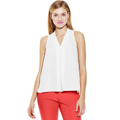 Vince Camuto Inverted Pleat V Neck Blouse