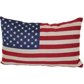 Brentwood Originals American Flag Tapestry Toss Pillow