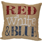 Brentwood Originals Red White and Blue Decorative Pillow