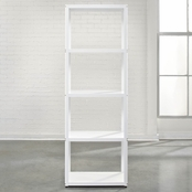 Sauder Tower Bookcase, White