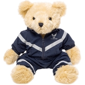 Bear Forces of America 16 in. Plush Bear in the Air Force PT Uniform