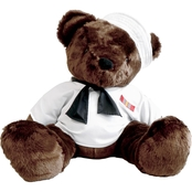 Bear Forces of America 31 in. Plush Bear in the Navy White Jumper
