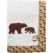 Trend Lab Northwoods Framed Receiving Blanket With Bears Applique
