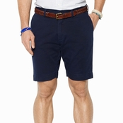 Polo Ralph Lauren Classic Fit Flat Front 9 in. Chino Shorts