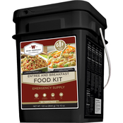 Wise Emergency Food Gluten Free Entree & Breakfast Grab and Go Bucket, 84 Servings