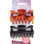 Goody Slide Proof Large Bowtie Claw Clip 2 pk.