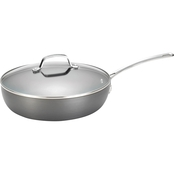 Circulon Genesis Hard Anodized Nonstick 12 in. Covered Deep Skillet