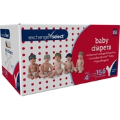Exchange Select Giant Box Baby Diapers Size 4 (22-37 lb.), 156 Ct.