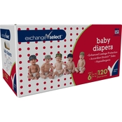 Exchange Select Giant Box Baby Diapers Size 6 (35+ lb.), 120 Ct.