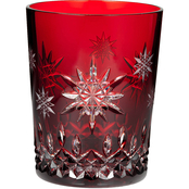 Waterford Wishes for Joy Prestige Edition Ruby Double Old Fashioned Glass