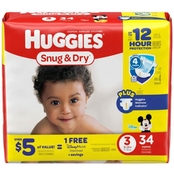 Huggies Snug and Dry Diapers Size 3 (16-28 lb.)