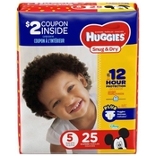 Huggies Snug and Dry Diapers Size 5 (27+ lb.)
