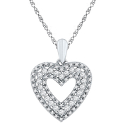 10K White Gold 1/3 CTW Diamond Pendant