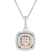 10K Two-Tone Gold 3/8 CTW Diamond Pendant