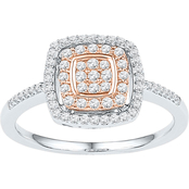 10K Two-Tone Gold 3/8 CTW Diamond Ring