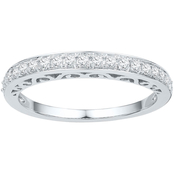 10K White Gold 1/4 CTW Diamond Ring