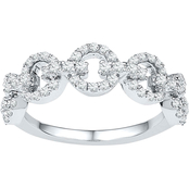 10K White Gold 1/2 CTW Diamond Ring