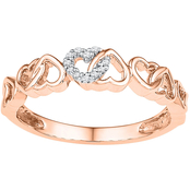 10K Pink Gold Diamond Accent Ring