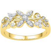 10K Yellow Gold 1/5 CTW Diamond Ring