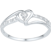 10K White Gold Diamond Accent Ring