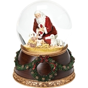 Roman Musical Kneeling Santa Dome