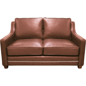 Omnia Italian Leather Fifth Avenue Loveseat