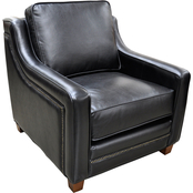 Omnia Italian Leather Fifth Avenue Chair