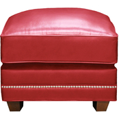 Omnia Italian Leather Fifth Avenue Ottoman