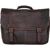 Reaction Kenneth Cole Colombian Leather Flapover 15.6 In. Computer Portfolio