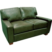 Omnia Italian Leather Albany Loveseat