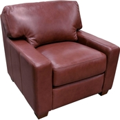 Omnia Italian Leather Albany Chair