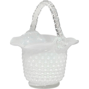 Dale Tiffany Clear Art Glass Basket