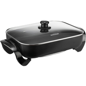 Brentwood 16 in. Electric Skillet with Glass Lid