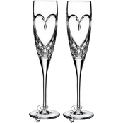 Waterford Love True Love 2 pc. Flute Set