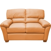 Omnia Italian Leather Cedar Heights Loveseat