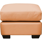 Omnia Italian Leather Cedar Heights Ottoman