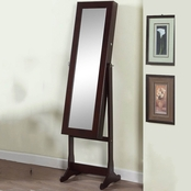 Artiva Deluxe Floor Standing Mirror and Jewelry Cabinet with LED Lights