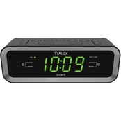 Timex AM FM Dual Alarm Clock Radio with USB Charge Port