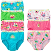 Fruit of the Loom Toddler Girls Fairy Tale Frog Briefs 7 pk.