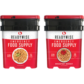 Wise Emergency Food Entree and Breakfast Package, 240 Servings