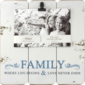 Fetco Home Decor Cabins Family 4 x 6 Photo Frame