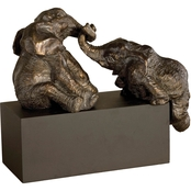 Uttermost Playful Pachyderms Bronze Figurine