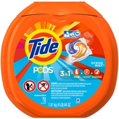 Tide Pods Clean Breeze Laundry Detergent Pacs 72 pk.