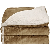 Sunbeam Reversible Sherpa/Royal Mink Heated Throw