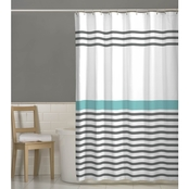 Maytex Simple Stripe Fabric Shower Curtain