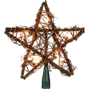 Kurt S. Adler Rattan Lighted Tree Top Star