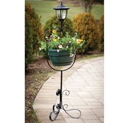 Evergreen Planter with Solar Light