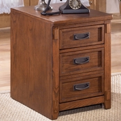 Ashley Cross Island File Cabinet