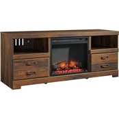 Ashley Quinden TV Stand with Fireplace Insert