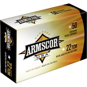 Armscor .22 TCM 40 Gr. Jacketed Hollow Point, 50 Rounds
